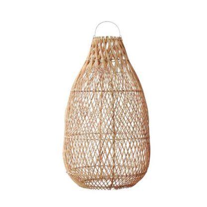 wysoka lampa rattanowa naturalna