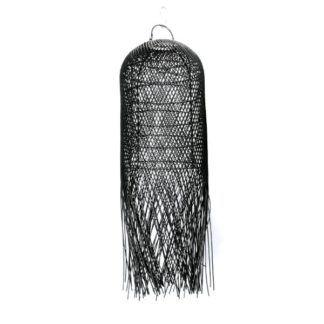 Lampa wisząca Squid M - czarny rattan
