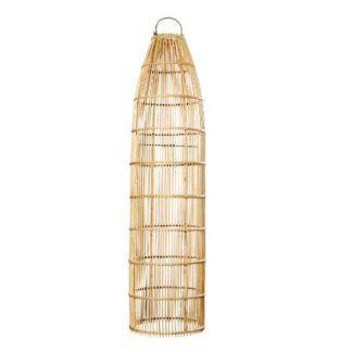 Wysoka lampa wisząca / stojąca Fish Trap L - naturalny rattan