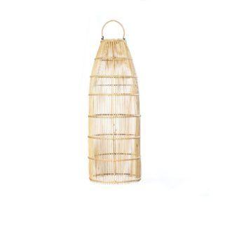 Naturalna lampa wisząca / stojąca Fish Trap M - rattanowa