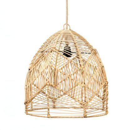 ażurowa naturalna lampa wisząca boho