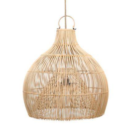 naturalna lampa wisząca nad drewniany stół