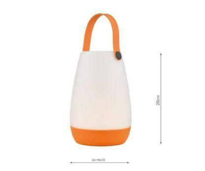 lampa mobilna na baterię pomarańczowa