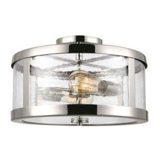 Lampa sufitowa Sutton - szklany klosz, srebrna