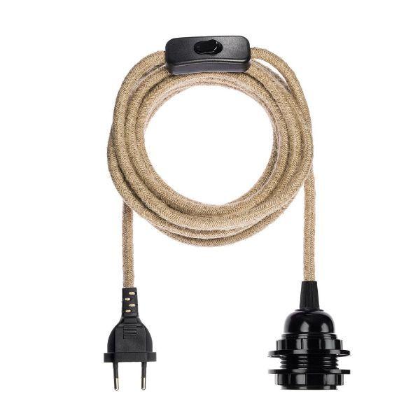 naturalny przewód do lampy z wtyczką