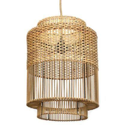 duży wiklinowy lampion oświetlenie do domu