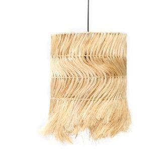 Naturalna lampa wisząca Kinky Abaca - klosz z trawy