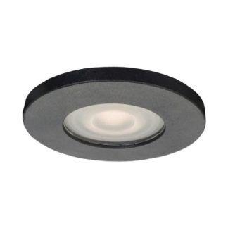Czarne oczko podtynkowe Lagos - IP65, okrągłe
