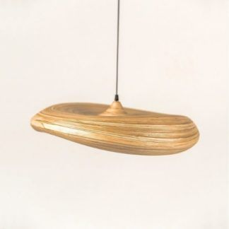 Lampa wisząca Stella S - bambusowy klosz
