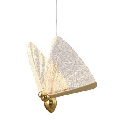 złota lampa w kształcie motyla