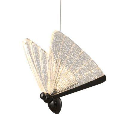 designerska lampa wisząca motyl