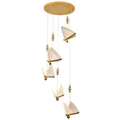 lampa wisząca klosze motyle
