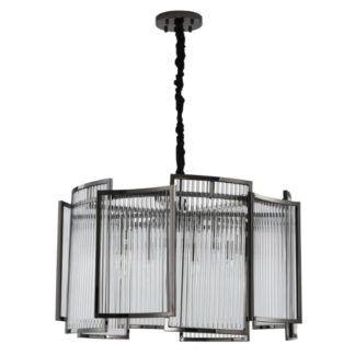 Efektowna lampa wisząca Imperio - czarna, 80cm