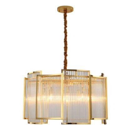 złota lampa wisząca szklana