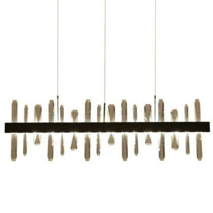 nowoczesna lampa wisząca z kryształkami