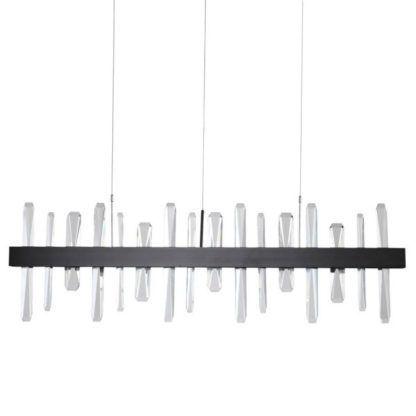 pozioma lampa wisząca z kryształkami