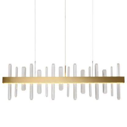 złota lampa wisząca z kryształkami
