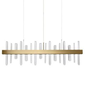 Elegancka lampa wisząca Arctic - LED, złota, 100cm