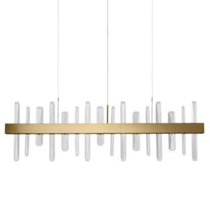 lampa z kryształkami nad stół