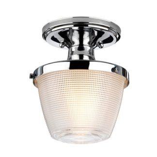 Srebrna lampa sufitowa Dublin - IP44, szklany klosz