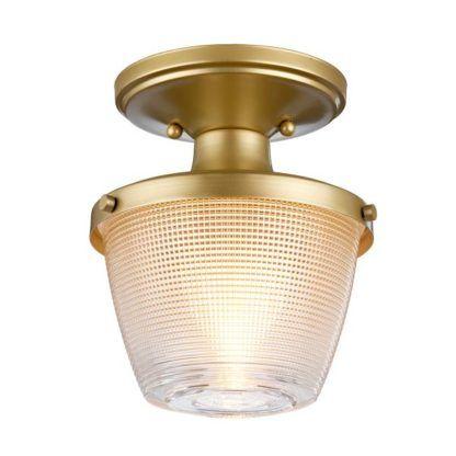 złota lampa sufitowa do łazienki