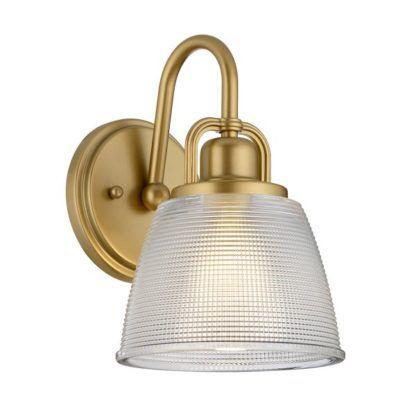 złoty kinkiet łazienkowy hamptons