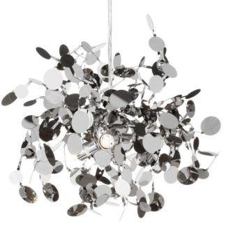 Srebrna lampa wisząca Monetti - wymienne żarówki