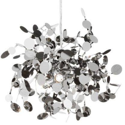 srebrna lampa wisząca atom