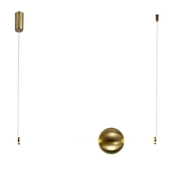ledowa lampa ze złotą kulą