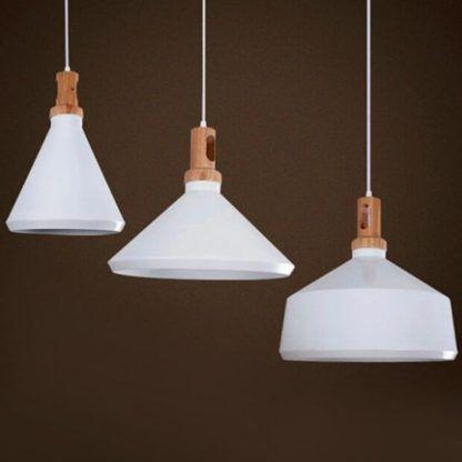białe lampy w stylu skandynawskim