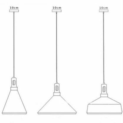 Lampa wisząca Nordic Woody - stożkowy klosz, 35cm