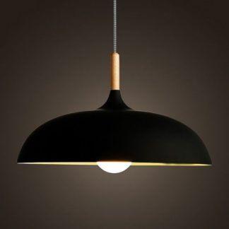 Lampa wisząca Saucer - czarna, 45cm