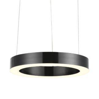 Lampa wisząca Circle - LED, czarna, 40cm