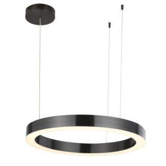 Lampa wisząca Circle - LED, czarna, 60cm