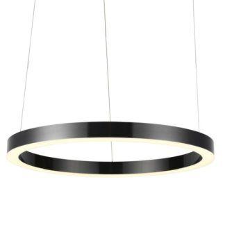 Czarna lampa wisząca Circle - LED, 80cm