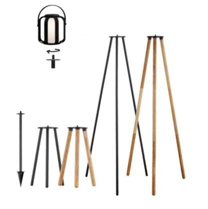 Lampion solarny Bob - IP44, bambusowa oprawa
