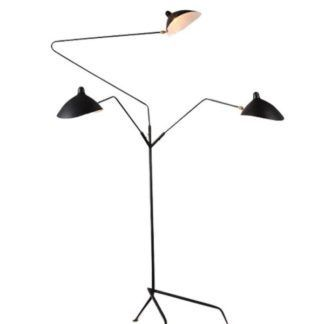 Nowoczesna lampa podłogowa Crane - 3 regulowane klosze