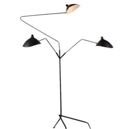 lampa podłogowa na trzy klosze