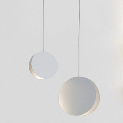 Biała lampa wisząca Pills S - dwa koła