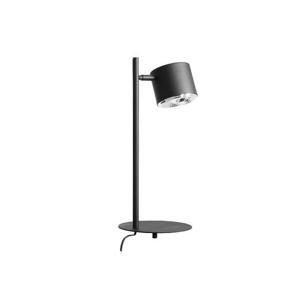 czarna lampka stołowa