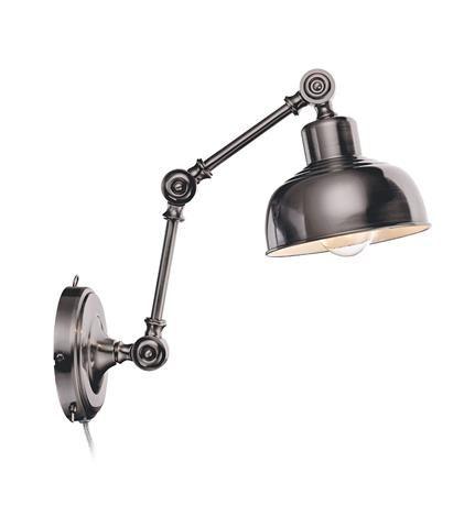 Elegancki kinkiet Grimstad - antyczne srebro