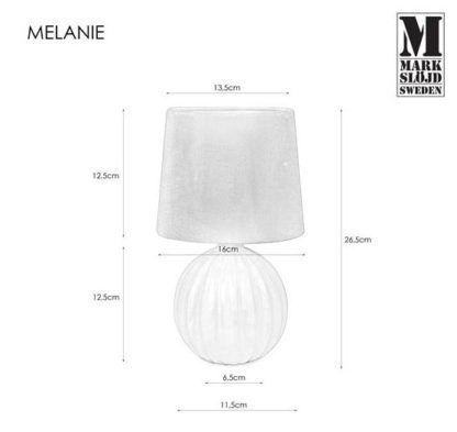 Biała lampa stołowa Melanie - ceramika