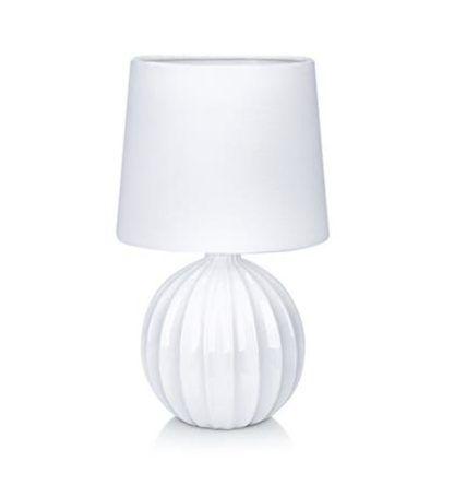 biała ceramiczna lampa stołowa
