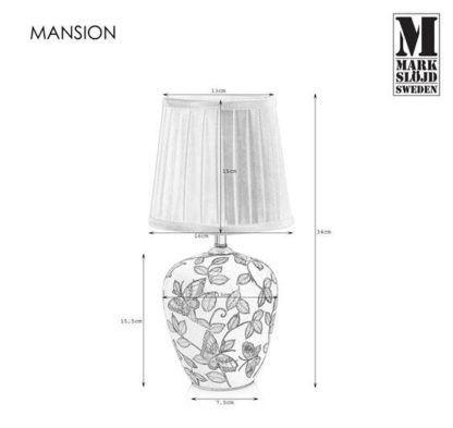 Lampa stołowa Mansion - motyw motyli