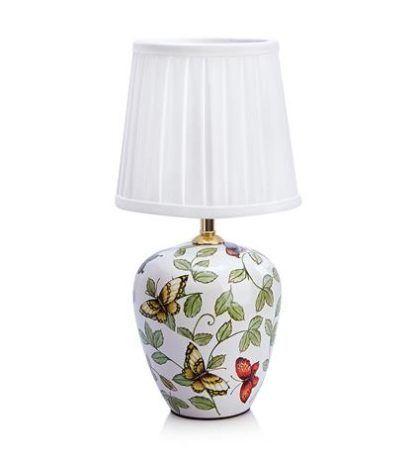 lampa stołowa z motywem motyli