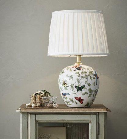 ceramiczna lampa stołowa z abażurem