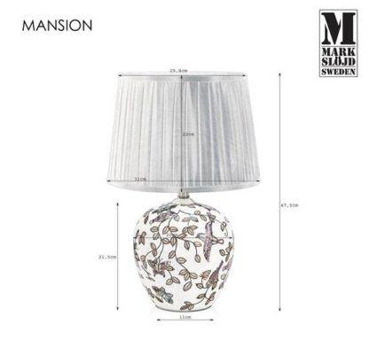 Elegancka lampa stołowa Mansion - ceramiczna