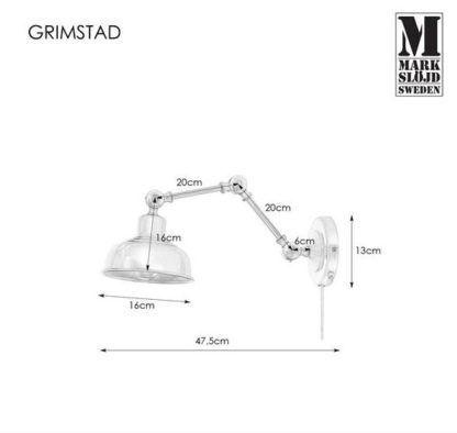 Regulowany kinkiet Grimstad - ciemne złoto