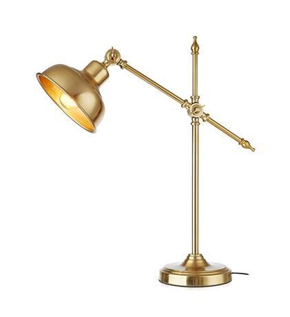 Klasyczna lampa biurkowa Grimstad - ciemne złoto