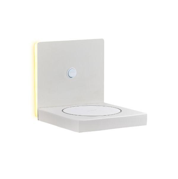 Biały kinkiet Zanzibar - LED, ładowarka indukcyjna
